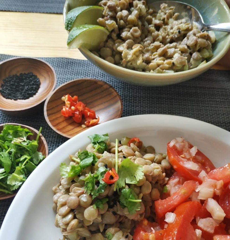 Sałatko - pasta z zielonej soczewicy